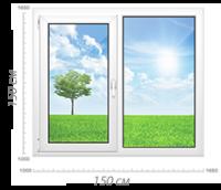 Двухстворчатое окно - Пластиковые окна купить в Москве, цены, стоимость