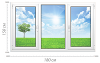 Трехстворчатое окно - Пластиковые окна купить в Москве, цены, стоимость